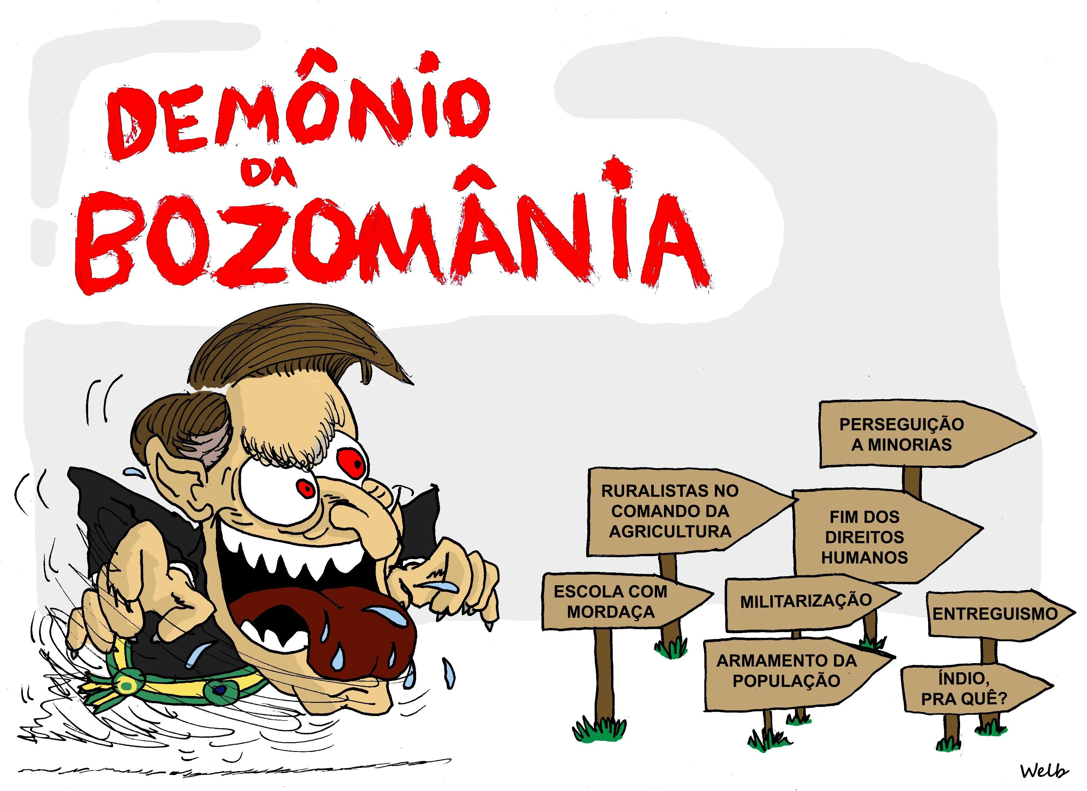 Resultado de imagem para Bolsonaro de mordaça - charges