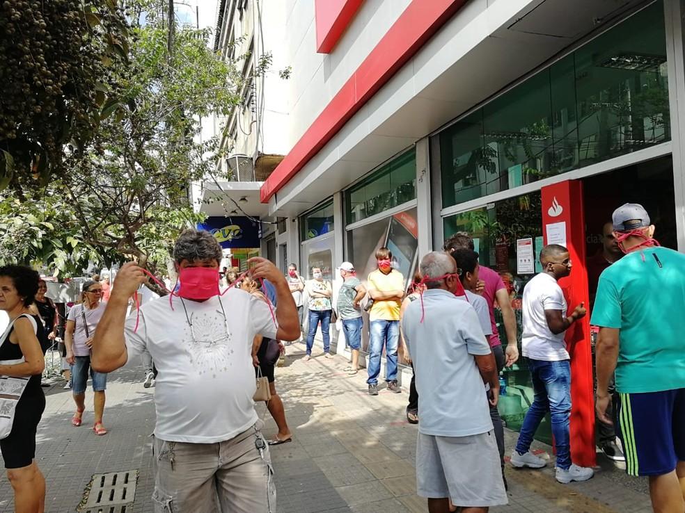 Mesmo com orientação para ficar em casa, ruas de Divinópolis estão cheias — Foto: Prefeitura de Divinópolis/Divulgação